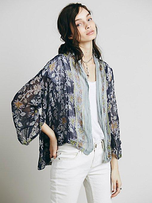 FP One Border Print Kimono