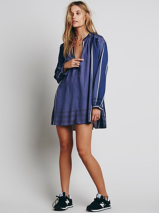 Long Sleeve Yarn Dye Lurex Tunic