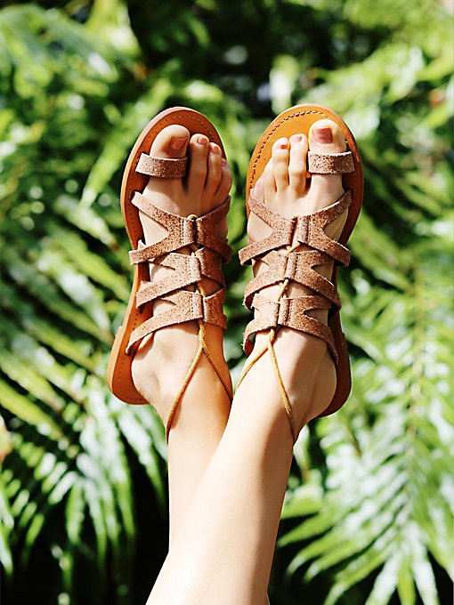 Vegan Gemma Lace Up Sandal