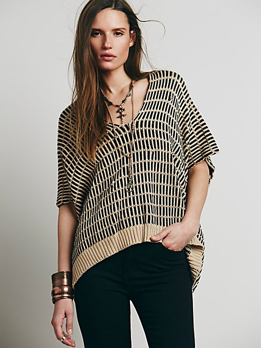 Stripe Boxy Short Sleeve Pullover