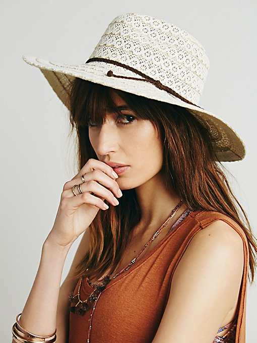 Lace Lover Wide Brim Hat