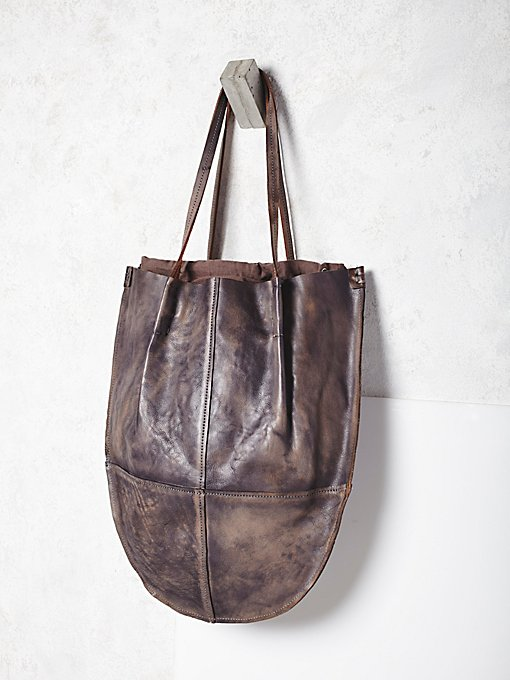 Crescent Leather Tote