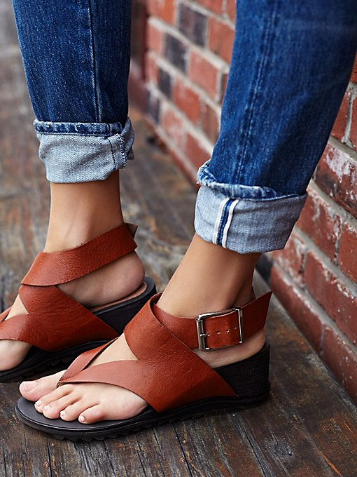 Six Point Wedge Sandal
