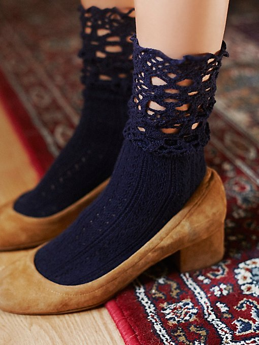 Chloe Crochet Ankle Sock