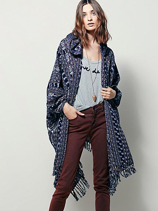 Linear Hooded Kimono