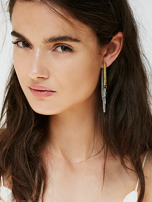 Bar Chain Earring