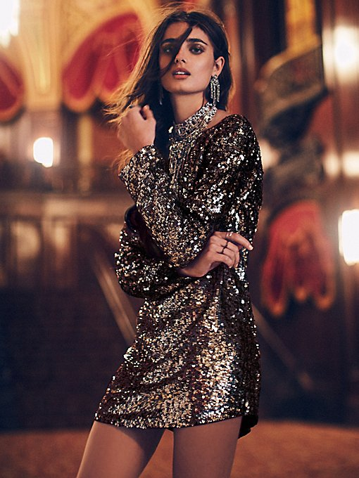 Tarnished Gold Sequin Tunic