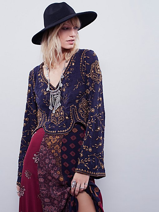 Embroidered Folk Festival Top