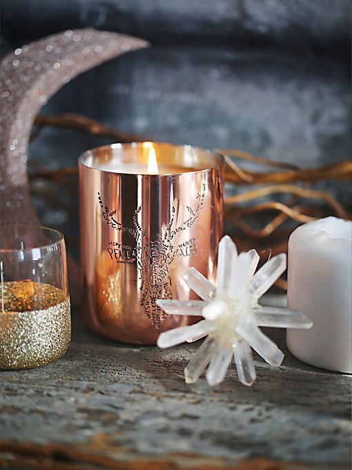 Copper Engraved Candle