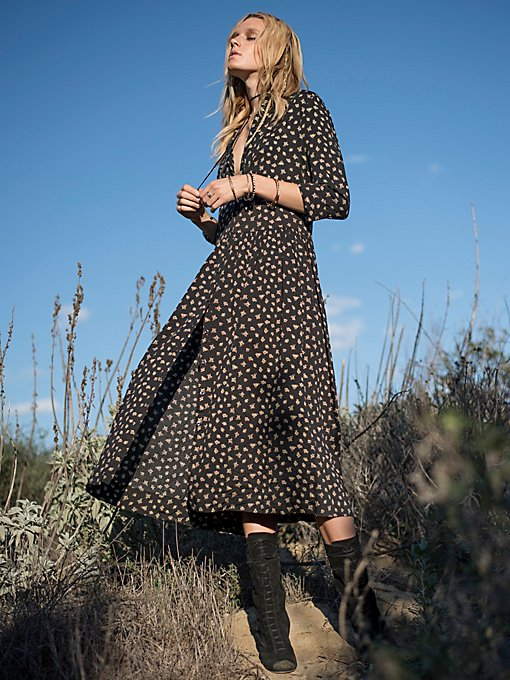Hearts All Over Maxi Shirt Dress