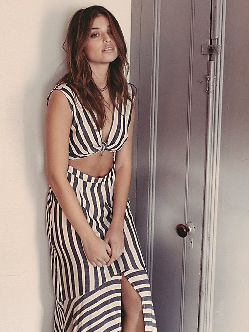 LA Babe Stripe Midi Dress