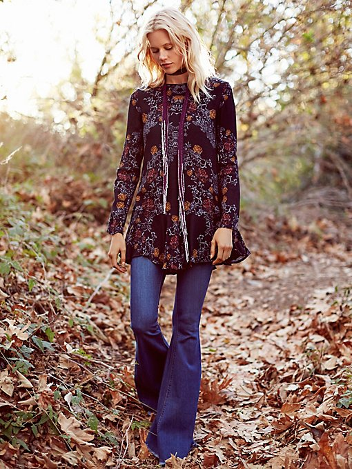 Smooth Talker Floral Print Tunic
