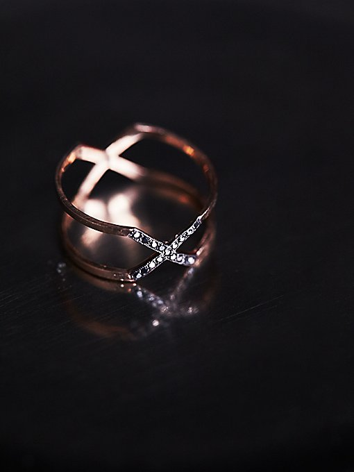 Mixed Diamond X Ring