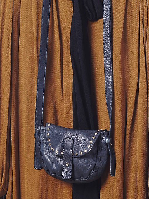 Mini Distressed Saddle Bag