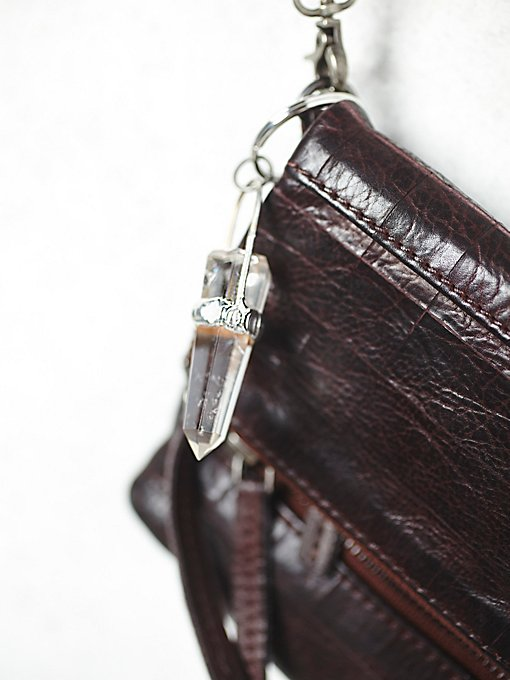 Smokey Crystal Amulet Keychain