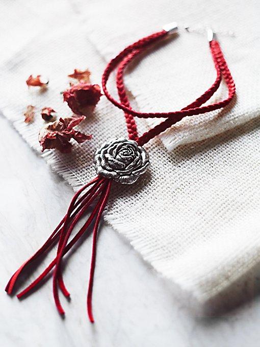 Wild Rose Leather Bolo