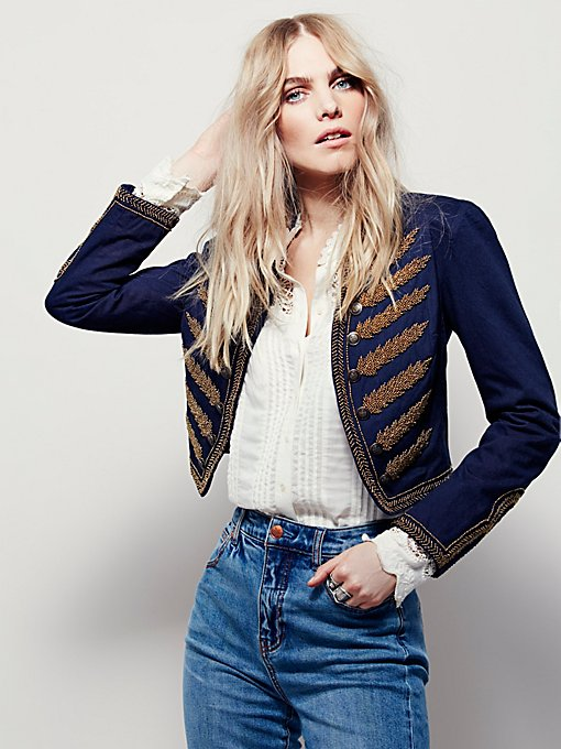 Embellished Band Jacket