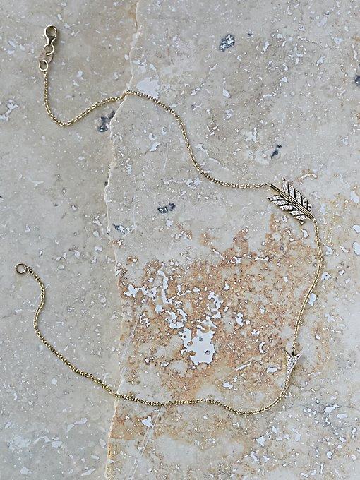 Split Arrow Diamond Necklace