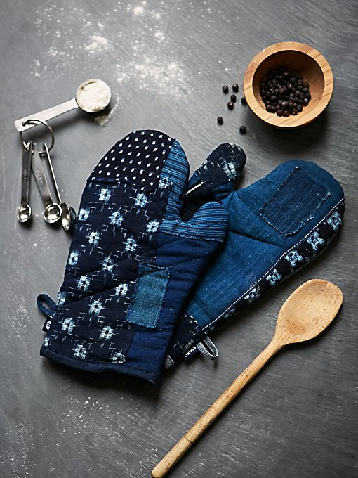 Denim Oven Mitts