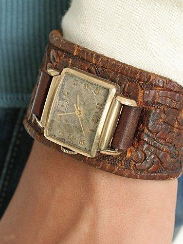 Embossed Vintage Belt Watch