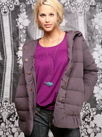 Quilted Jersey Puffy Jacket