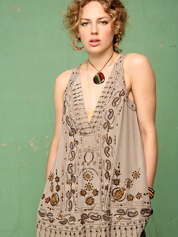 Gold Embroidered Swing Tunic