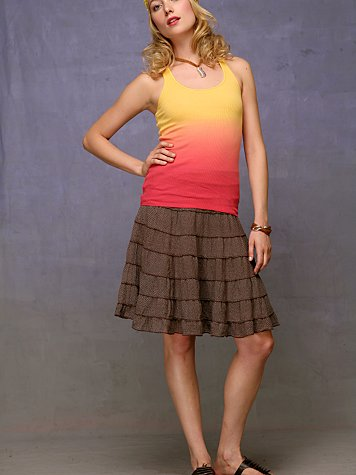 Ruffled Petticoat Skirt